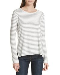 Majestic Filatures - Stripe Sweatshirt - Lyst