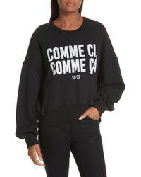Cinq À Sept - Oversized Slogan Print Sweatshirt - Lyst
