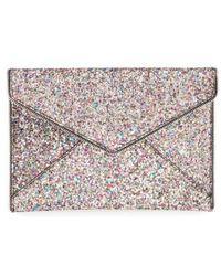 Rebecca Minkoff - 'leo' Envelope Clutch - Metallic - Lyst