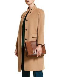 Marina Rinaldi - Tifoso Funnel Collar Wool Coat - Lyst