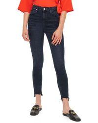 TOPSHOP - Jamie Step Hem Skinny Jeans - Lyst