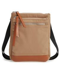 Lodis - Zora Rfid Nylon & Leather Crossbody Bag - Lyst