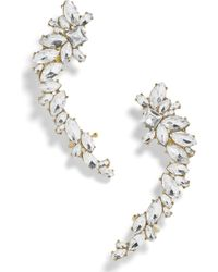 BaubleBar - Eliza Large Crystal Crawler Earrings - Lyst