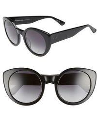 DIFF - Luna 54mm Polarized Round Sunglasses - Lyst