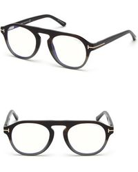 0bbd0ff93d4 Tom Ford - 49mm Blue Light Blocking Glasses With Clip-on Lens - - Lyst