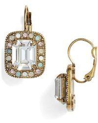 Sorrelli - Opulent Octagon Crystal Drop Earrings - Lyst
