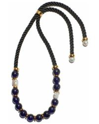 Lizzie Fortunato - Ripley Gold-plated Beaded Necklace - Lyst