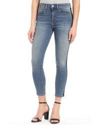 Mavi Jeans - Mavi Tess Black Velvet Stripe Skinny Jeans - Lyst