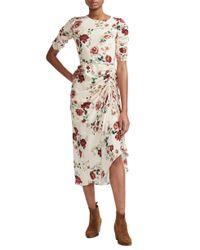 Maje - Rondi Floral Print Dress - Lyst