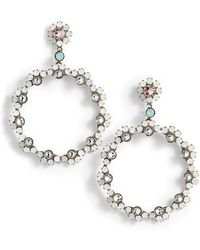 Sorrelli - Cirque Crystal Hoop Earrings - Lyst