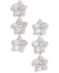 Kate Spade - Blooming Pave Linear Earrings - Lyst