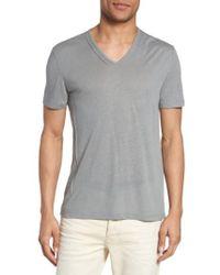 John Varvatos - V-neck T-shirt - Lyst