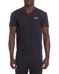 Under Armour - Microthread Swyft V-neck T-shirt - Lyst