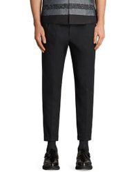 AllSaints - Tallis Pleated Cotton & Wool Trousers - Lyst
