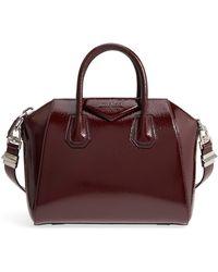 Givenchy - Small Antigona Creased Patent Leather Satchel - - Lyst