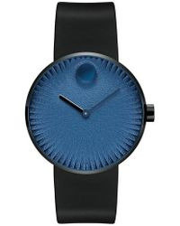 Movado - Edge Anchor Rubber Strap Watch - Lyst