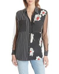 Equipment - Mixed Print Signature Silk Shirt - Lyst