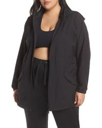 8a9922f77cd9 Lyst - Zella Cozy Up Bomber Jacket in Black