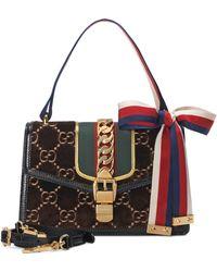 a25c96f23e8 Gucci - Small Sylvie Velvet Shoulder Bag - - Lyst