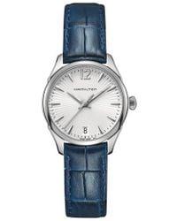 Hamilton - Jazzmaster Leather Strap Watch - Lyst