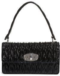 9c0ade504343 Miu Miu - Vernice Matelassé Quilted Leather Shoulder Bag - - Lyst