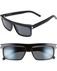 Saint Laurent - 57mm Sunglasses - - Lyst