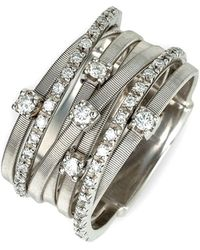 Marco Bicego - 'goa' Seven Band Diamond Ring - Lyst