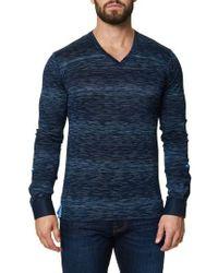 Maceoo | Stripe Long Sleeve V-neck | Lyst