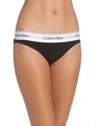 CALVIN KLEIN 205W39NYC - 'modern Cotton Collection' Cotton Blend Bikini - Lyst