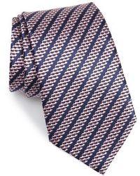 Ermenegildo Zegna - Stripe Silk Tie - Lyst