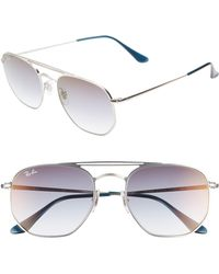 366667244ce32 Ray-Ban - Navigator 54mm Double Bridge Sunglasses - Transparent Blue - Lyst