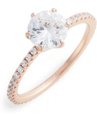 Nordstrom - Solitaire Pave Cocktail Ring - Lyst