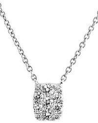 Bony Levy - 'mika' Mini Rectangle Pave Diamond Pendant Necklace (nordstrom Exclusive) - Lyst