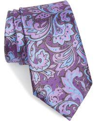 Ermenegildo Zegna - Paisley Silk Tie - Lyst