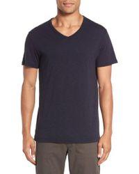 Vince - Slub V-neck T-shirt - Lyst