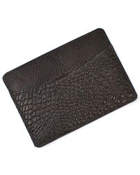 Martin Dingman - 'jameson' Matte Finish Genuine Alligator Leather Card Case - Lyst