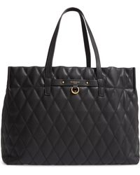 Givenchy - Quilted East/west Faux Leather Shopper - Lyst