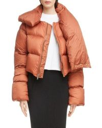 Rick Owens - Down Fill Crop Puffer Coat - Lyst