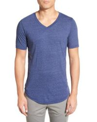 Goodlife - Scallop Triblend V-neck T-shirt - Lyst