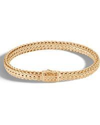 John Hardy - Men's Classic Chain Medium 18k Gold Bracelet Size L - Lyst
