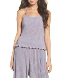 Lacausa - Pleated Tank - Lyst