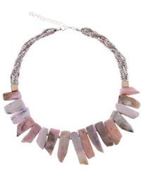 Nakamol - Short Stick Agate & Crystal Collar Necklace - Lyst