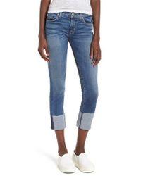Hudson Jeans - Tally Cuffed Crop Skinny Jeans - Lyst