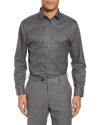 Calibrate - Trim Fit Check Dress Shirt - Lyst