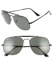 Ray-Ban - The General 57mm Polarized Sunglasses - Lyst
