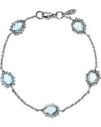 Anzie - Dew Drop Blue Topaz Bracelet - Lyst