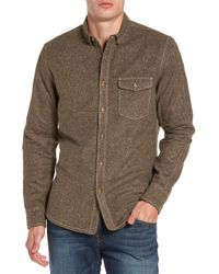 Jeremiah - Utah Nep Heather Flannel Shirt - Lyst