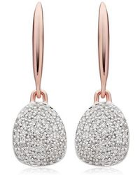 Monica Vinader - Nura Small Diamond Pebble Drop Earrings - Lyst