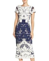 JS Collections - Soutache Lace Midi Dress - Lyst