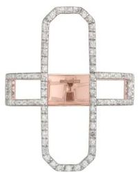Monica Vinader - Naida Diamond Cocktail Ring - Lyst
